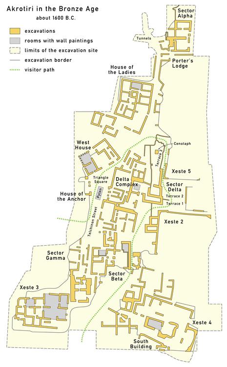 map akrotiri
